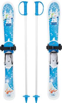 TECNOPRO Little Team set dětské lyže s vázáním a hůlkami modrá