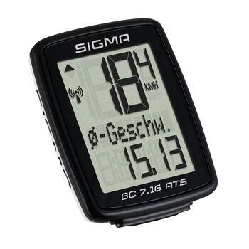 SIGMA  SPORT Cyklistickýkomputer BC 7.16 ATS černá
