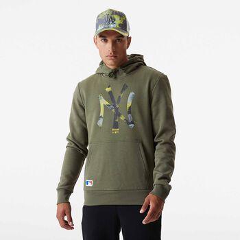 New Era  Pán.mikina s kapucíMLB Infill Logo Pánské zelená