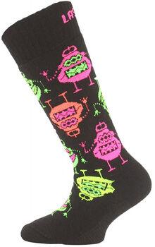 Lasting  SJE Dět.lyž.ponožky70%Merino,15%PA,10%SIL černá