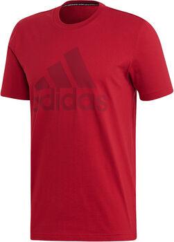 adidas Must Haves Badge of Sport Tee Pánské červená