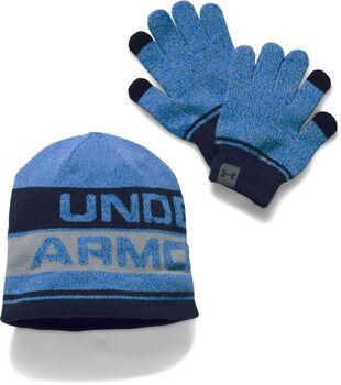 Under Armour  Bean.Glo.ComboDět.čepice a rukavice modrá