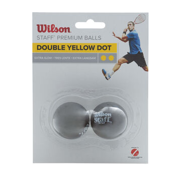 Wilson  Staff Squash.míč2ks Blister, guma žlutá