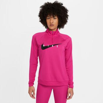 Nike Swoosh Run Běžecké tričko Dámské červená