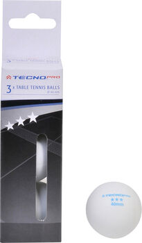 TECNOPRO Míčky na stolní tenis bílá