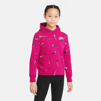 Nike NSW AOP Sportswear mikina Dívčí červená