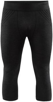 Craft Fuseknit Comfort Knit seamless 3/4 funkční kalhoty Pánské černá