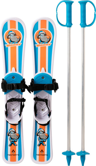 Little Warrior set dětské lyže včetně vázání a hůlkami