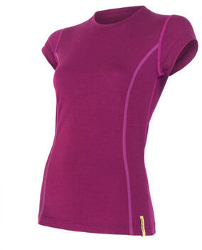 Sensor Merino Active T-Shirt termo tričko Dámské fialová