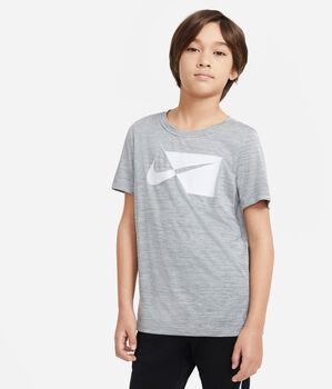 Nike Breathe DRY HBR tréninkové tričko Chlapecké šedá