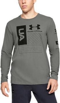 Under Armour Multi Logo LS sportovní tričko Pánské zelená