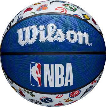 Wilson basketbalový míč NBA All Teams Logo modrá