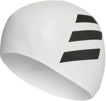 adidas Sil 3-Stripes koupací čepice bílá