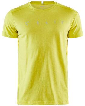 Craft Deft 2.0 Short Sleeve Tee M Pánské žlutá