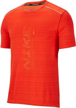 Nike M Nk Dry Miler Short Sleeve PO GX FF Pánské oranžová