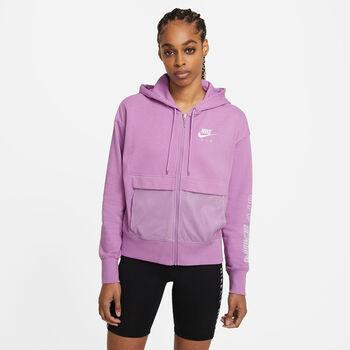 Nike Air Full-zip mikina Dámské fialová