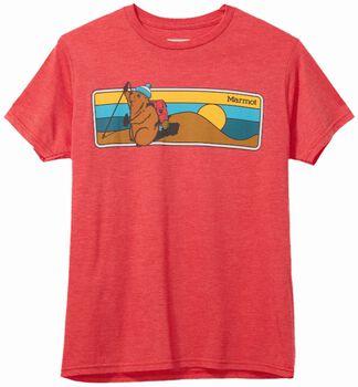 Marmot Hiking Marty Tee SS 33420/8554 triko Pánské červená