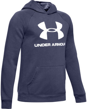 Under Armour Rival Logo Hoodie Jr Chlapecké modrá