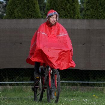 2You Cyklistické poncho Pánské červená