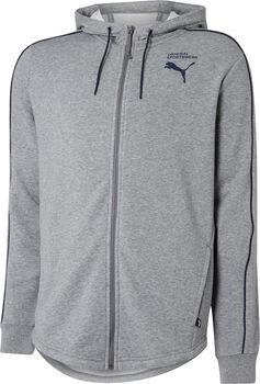 Puma Style Hooded Sweat Full-Zip Pánské šedá