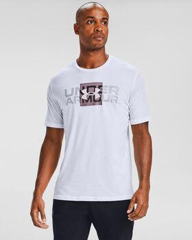 Under Armour Box Logo sportovní tričko Pánské bílá