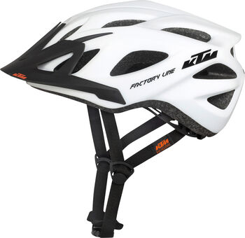 KTM Factory Line cyklistická helma Pánské bílá