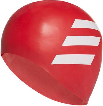 adidas Sil 3-Stripes koupací čepice červená