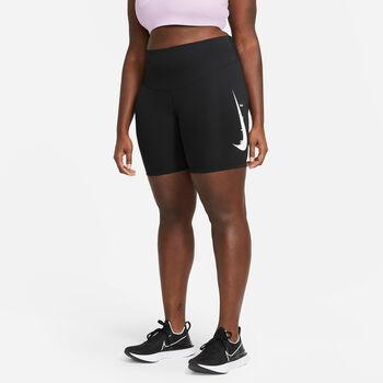 Nike NK SWOOSH RUN 7IN běžecké kraťasy Dámské černá
