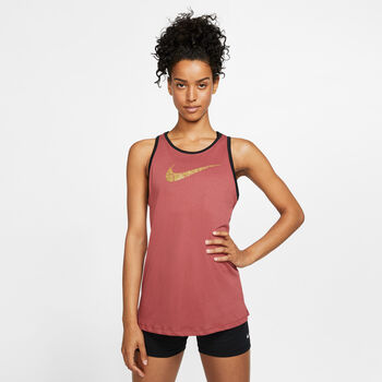 Nike W Nk Dry Tank Dri-FIT Dfc Glam Dámské růžová