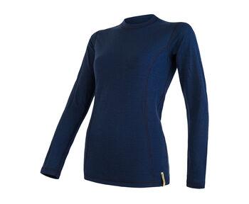 Sensor Merino termo tričko Dámské modrá