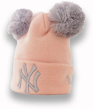 New Era A MLB Double Pom Knit Cuff Kids růžová