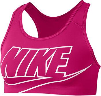 Nike W Medium Support Sports Futura Sportovní podprsenka Dámské růžová