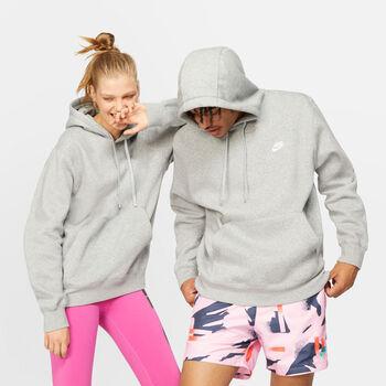 Nike M NSW Club Hoodie PO BB Pánské šedá