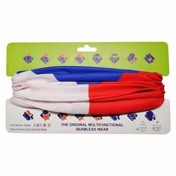NOBRAND Multifunkční šátek Česko bílá
