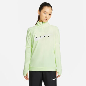 Nike Swoosh Run Běžecké tričko Dámské žlutá