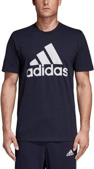 adidas Must Haves Badge of Sport Tee Pánské modrá