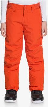 Quiksilver Estate Youth PT snowboardové kalhoty oranžová