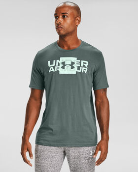 Under Armour Box Logo sportovní tričko Pánské modrá