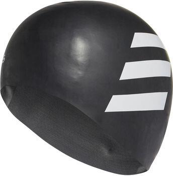 adidas Sil 3-Stripes koupací čepice černá