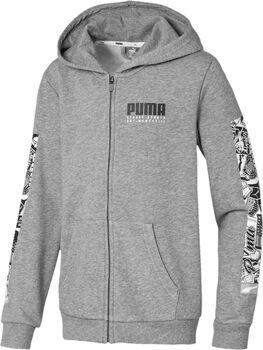 Puma Alpha Hooded Jacket šedá