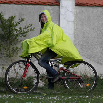 2You Cyklistické poncho Pánské žlutá