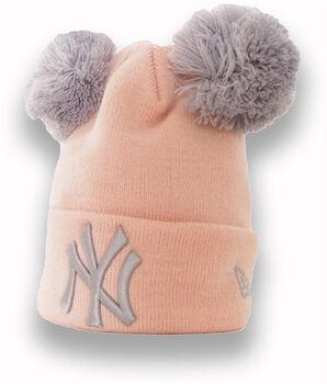 New Era  Dět.čepiceMLB Double Pom Knit Cuff růžová