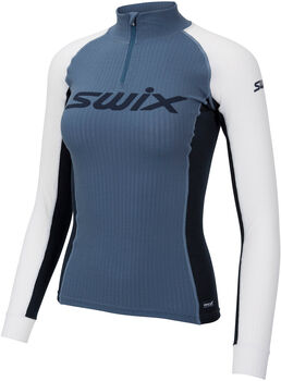 Swix  Dám.běžk.spodní tričkoRaceX Bodywear, polozip Dámské modrá