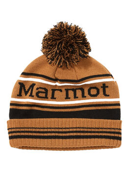 Marmot Retro Pom hat čepice hnědá