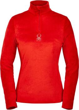 Spyder  dám. tričko L/S sezipem Shimmer Bug Zip T Dámské červená