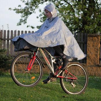 2You Cyklistické poncho Pánské šedá