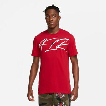 Nike JORDAN Pán.basketb.tričkoScript Air Dfct Crew Pánské červená