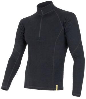 Sensor Merino DF Long Sleeve 1/3 Zip termo tričko Pánské černá