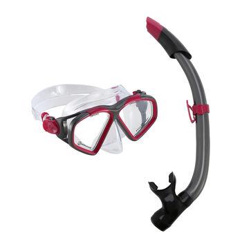 Aqua Lung Combo Hawkeye set na šnorchlování růžová