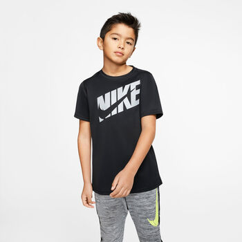 Nike B Nk HBR+ PERF TOP Short Sleeve Chlapecké černá